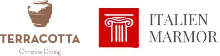 Terracotta und Marmor-Logo